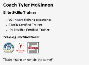 Tyler McKinnon STACK Elite Skills Trainer