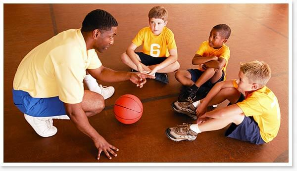 Introducing Basketball To Children